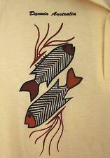 DARWIN fish logo 1970s disco AUSTRALIA vtg med polo shirt Northern Territory OG
