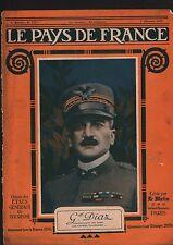 WWI Portrait Generale Armando Diaz Duca della Vittoria Italia 1918 ILLUSTRATION