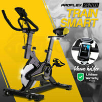 New PROFLEX Commercial Spin Bike Flywheel Exercise Fitness Home Gym Yellow