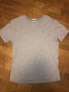 HILFIGER Herren kurzarm Shirt T-Shirt Rundhals BASIC CN basil green grün 19088