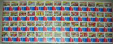 VINTAGE 1980'S BAZOOKA JOE COMICS COMPLETE SET OF(50) ON UNCUT SHEET