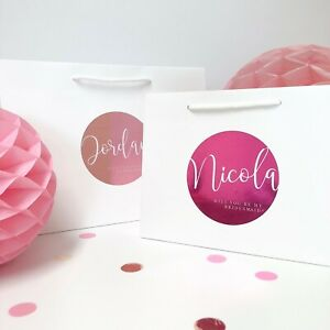 Personalised Will you be my bridesmaid gift bag | LUXURY FOIL BOUTIQUE | Pink