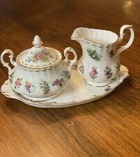 Rare Royal Albert Flowers Of The Month ALL 12 MONTHS Creamer, Covered Sugar,Tray