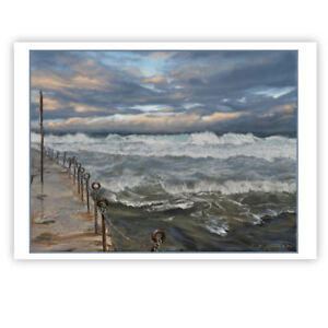 © ART - Australian Beach Seascape Newcastle Waves Original artist print by Di