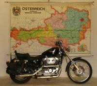 Schulwandkarte Wandkarte Österreich politische Karte  238x150cm vintage ~1960