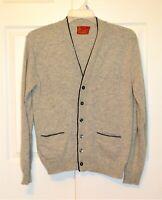 Vtg 70s Sears Kings Road Men's Store Size M Gray B/F Cardigan Grandpa Sweater