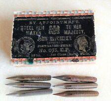 Vintage Box John Mitchell'S w 6 nibs 075 Ef dip ink pen