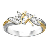Fantasy Fairy Dream Girl Cubic Zirconia Wedding Ring Party Jewelry Gift Latest