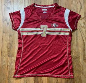 Women's Large Colin Kaepernick Jersey NFL Ladies NICE L #7 Shirt SF 49ers Gold