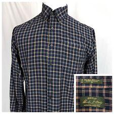 Orvis Signature Collection Plaid Silk Wool Blend L/S Button Down Shirt Mens M