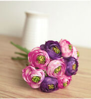 Artificial Silk Ranunculus asiaticus Flower Home Wedding Party Bouquet Decor DIY