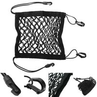 Motorcycle Black Luggage Net Mesh Hook Bags Cargo Storage Holders Replacement