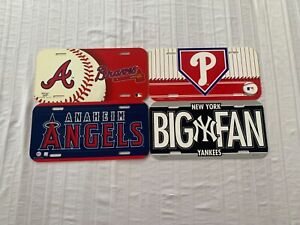 MLB Assorted Teams Plastic License Plate Wincraft New