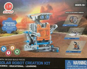 12-in-1 Solar Robot Creation 190-Piece Kit STEM - i R CIRO