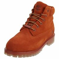 "Little Kids Timberland 6"" Premium TB0A1AI2 Rust Boots Waterproof Youth Size 3"