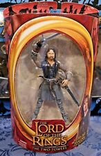 LOTR- HELM'S DEEP ARAGORN- TOYBIZ- ACTION FIGURE- THE HOBBIT- THE TWO TOWERS