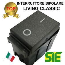 bticino LIVING CLASSIC interruttore bipolare 0/1 16A