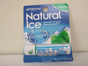 Mentholatum Natural Ice Lip Balm, Original - 12 Each