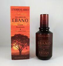 L'erbolario Lotion Déodorant Accord de Ébène 100ml Homme Agrumes Legnoso