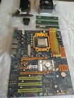 AMD Am2 Motherboard CPU RAM Graphics Card 64 x2 1gb DDR2 6gb Working Combo