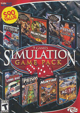 SIMULATION 9 Game Pack - Hunting, Remington Africa, Alaska, AC-130, PC Game NEW