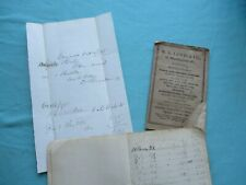 1865 Baseballs,Sperm Whale Oil,5 doz.,Steel Traps,Fishing Tackle,Maine Ledgers!