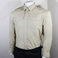 BRITISH ARMY FAWN SHIRT - LONG SLEEVE - FAD Future Army Dress Khaki Surplus No.2
