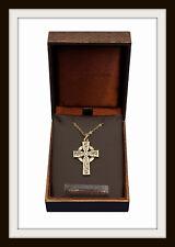 St. Petroc Cruz Celta Collar Colgante de Bronce ~ ~ ~ Gratis P&P Hecho en Reino Unido