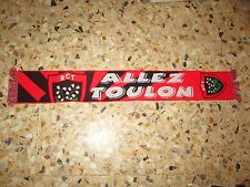 echarpe scarf rugby RCT RUGBY CLUB TOULONNAIS ALLEZ TOULON MAYOL VAR