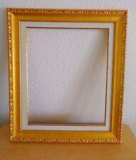 Cadre doré avec marie louise pour tableaux ~ Dorure vive ~ Format peinture 50x50