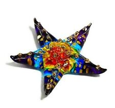 TINY CRYSTAL Starfish HAND BLOWN CLEAR GLASS ART FIGURINE ANIMAL COLLECTION