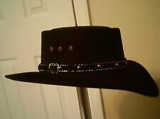 Great West Hat Co. Black Cowboy Hat Size 7 1 8 MEDIUM 904492c938f