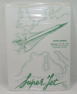 SUPER JET CONCORDE AIR FRANCE Lot copies doubles NEUF vintage 70's SO.CO.PI