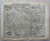 """Kupferstich Karte Lothringen """"Lotharingia Meridiona"""" um 1650 Frankreich sf"""