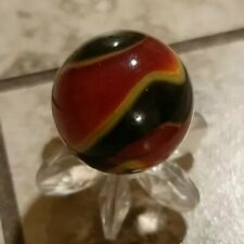 Vintage Akro Agate INDIAN BLANKET Corkscrew Marble. Near Mint Cond! HTF 1/2""