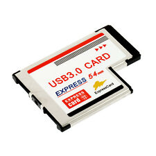 Express Card Expresscard 54mm to USB 3.0x2 Port Adapter BB