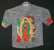 Men's Our Lady of Guadalupe Button Front Short Sleeve Shirt M C:48 W:46 L:28
