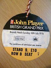 1978 Ticket British Grand Prix (Brands Hatch-16 July)