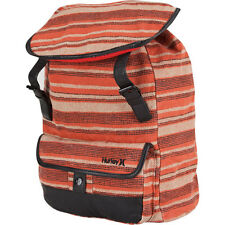 Hurley One & Only Backpack Stripes Orange School Book Bag Girls NEW NWT