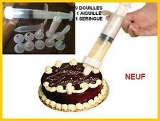 Seringue à pâtisserie + 9 douilles décors pâtissier !!!