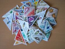44 DIFFERENT TRIANGLE SHAPED STAMPS,EXCELLENT.
