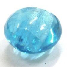 10 x rond plat feuille d'argent perles de verre - 12mm-A4574