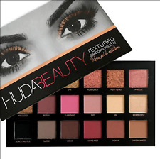 NEW Huda Beauty Textured Eye Shadows Palette Rose Gold Edition 18 Colours