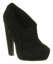 High Heel (3-4.5 in.) Suede Office Pull On Boots for Women
