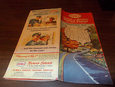 1960 Humble Oil Central and western US Vintage Road Map