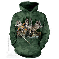 The Mountain Find 12 Wolves Forest Adult Unisex Hoodie Hooded Sweatshirt 723448
