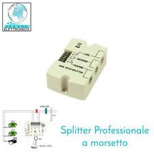 Splitter Adsl Professionale doppio ingresso con morsettiera e preso modulatore