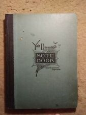 Former Secretary of Treasury Henry Fowler's Yale notebook w/signature