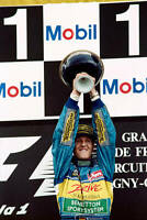 OLD LARGE PHOTO of Michael Schumacher 1995 French Grand Prix win for Benetton 1