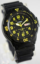 Casio MRW-200H-9BV Analog Watch Yellow 100m WR Day and Date New Free Shipping